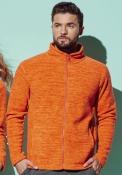 Active melange Fleece Jacket uomo