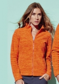 Active melange Fleece Jacket donna