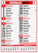 Calendario Olandese Rosso e nero