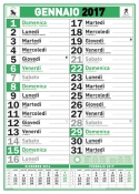 Calendario Olandese Verde e nero