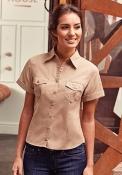 Camicia donna manica arrotolata