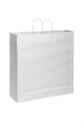 Shopper in carta kraft bianca 54X50X14 cm