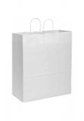Shopper in carta kraft bianca 45x48x20 cm