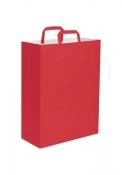 Shopper in carta kraft maniglia piatta, colorato 32x43x17cm