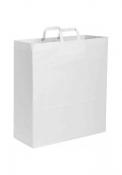 Shopper in carta kraft bianca, maniglia piatta 45X48X15 cm