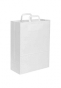 Shopper in carta kraft bianca 32x43x17