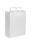 Shopper in carta kraft bianca 28x36x12