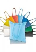Shopper in cotone leggero colorato, manici lunghi