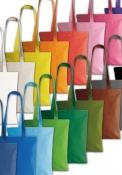 Shopper in cotone medio manici lunghi